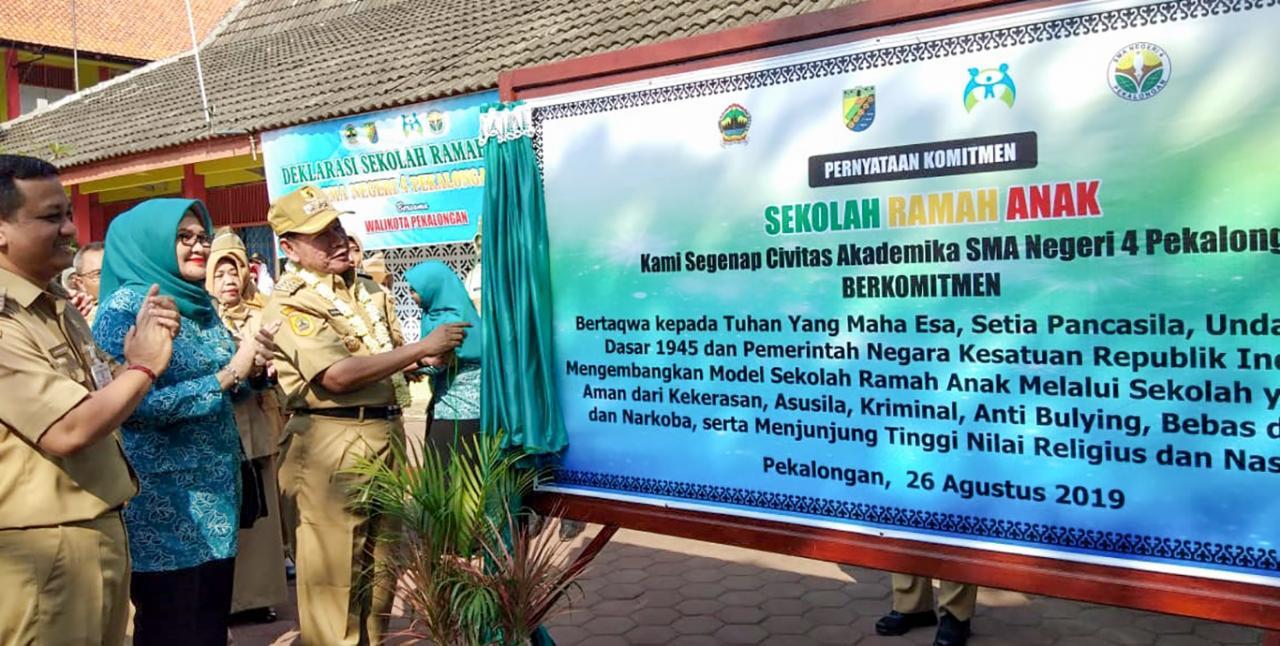 Walikota Launching Sma Negeri 4 Sekolah Ramah Anak